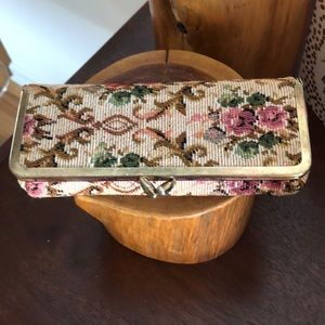 Vintage Cosmetic Tapestry Case